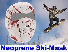 Reversible Full Face Neoprene SKI MASK, Keeps Skiers Warm, Blood Splatter