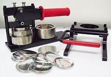 """2-1/4"""" Kit STD Tecre Button Maker Machine + Graphic Punch + 1000 Button Parts"""