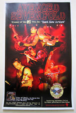 Avenged Sevenfold A7X *City of Evil* Promo Poster *RARE Nightmare Waken Fallen