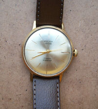 Vintage Poljot de luxe. 23 j. 2209 ULTRA slim Soviet watch.Gold plated.1950 yars
