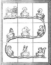 Baby Quilt PATTERN Hand Embroidery Train Railroad w Baby Animals crib quilt 521