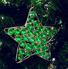 Christmas Ornament or Xmas Tree Star Hanging Glitter Party Decoration Baubles