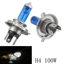 2X H4 9003 Xenon Ultra White 100W 12V 5000K Bright Halogen Headlight Bulb Lamp