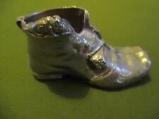 Vintage Silver Coloured Boot with Mouse