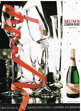 Publicité Advertising 1996 Le champagne Cordon Rouge Mumm
