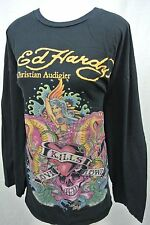 ED HARDY CUSTOM TAILORED to fit Women's 3X 3/4 Sleeve T-shirt Black Love Kills