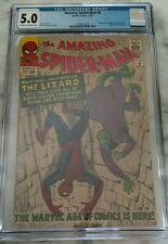 Amazing Spider-man #6 CGC 5.0 with Lizard Marvel 1963