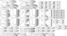 22 xHigh Gloss Chrome GSX-R GSXR Decal/Sticker Set