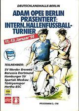 11 13.01.1991 HT Berlin with Spartak Moskau, Tuerkiyemspor, Borussia Dortmund