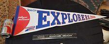 """12"""" X 29"""" SIOUX CITY EXPLORERS Felt Pennant Flag from 2000"""