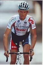 CYCLISME repro PHOTO cycliste STAF SCHEIRLINCKX équipe OMEGA PHARMA LOTTO 2010