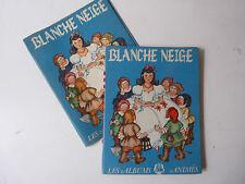 BLANCHE NEIGE livre animé 1948 Les Albums Animés Snow White Movable Book 1948s