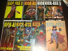 KICK-ASS 3 #1,2,3,4,5,6,7,8 Complete Set with Variants Mark Millar Icon 2013  NM
