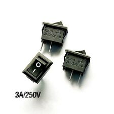 10pcs On/off Rocker Switch 8.5*13.5MM Copper-Pin 250V/3A