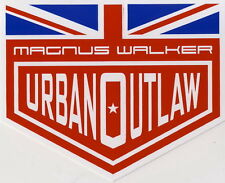 2 x Magnus Walker Urban Outlaw Sticker, ORIGINAL Aufkleber, Racing, British Flag