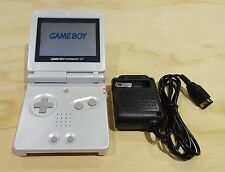 Nintendo Game Boy Advance GBA SP Pearl White System MINT NEW W/ CHARGER!