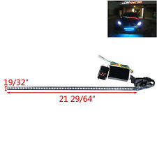 "22"" 7-Color RGB LED Flash Knight Rider Strip Light For Under Hood Behind Grille"