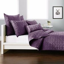 DKNY CROSSTOWN 1 STANDARD PILLOW SHAM IN PLUM QUILTED