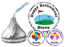 216 RETIREMENT PARTY FAVORS HERSHEY KISS KISSES LABELS