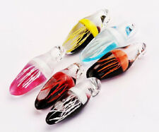Wholesale Lots 6pc glass Mix Style Jellyfish Glow in the Dark Clear Pendants