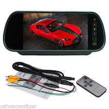 "HD LCD Color 7"" Screen Car Rear View Backup Camera Reverse DVD Mirror Monitor"