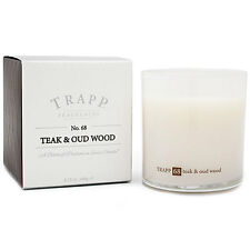 TRAPP AMBIANCE COLLECTION 8.75 OZ. #68 TEAK & OUD WOOD CANDLE