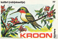 Colibri à gorge rubis Ruby-throated Hummingbird MATCHBOX LABEL CARD IMAGE 1973