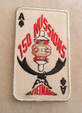 1980'S MADE 150 MISSIONS PHANTOM TO F-4 VIETNAM RED EMB ON TWILL ACE OF SPADES