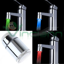 Mixer LED 3 colours tap water chromotherapy cooking sensor temperature