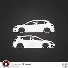 (1005)  Low and Slow  Seat Leon 1P Sticker Aufkleber Stickerbomb Turbo Cupra