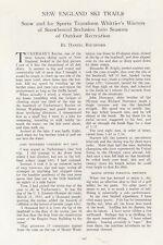 1936 New England Ski Trails By Daniel Rochford/Skiing