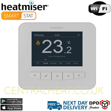 Heatmiser SmartStat Wifi Programmable Room Thermostat - Glacier White
