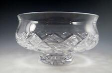"""VINTAGE WATERFORD CRYSTAL FOOTED BOWL in Comeragh (Cut)  5-1/4"""" - Signed - EUC"""
