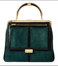 BALMAIN for H&M Green Suede Bag, Sold out, Rare
