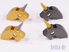 Lego - 4 x caballos-casco con cuerno/unicornio/Unicorn/mercancía nueva 89524
