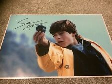 The Goonies Sean Astin Hand Signed 18x12 Photo - PROOF Autographed Rare.