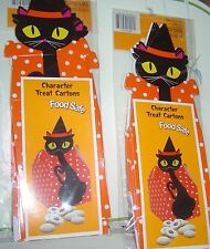 8 PIECE (2 Packs) Halloween KIDS Character Treat CARTONS Black CATS Box