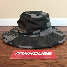 New Obey Sierra Hat Field Camo Camouflage Army Green Canvas Crusher Bucket camp