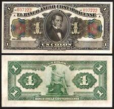 COSTA RICA 1 COLON 1917  UNC P.S121R