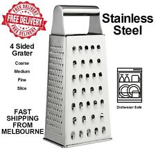 NEW Deluxe Four Sided Box Grater Stainless Steel Vegetable Cheese Multi Purpose