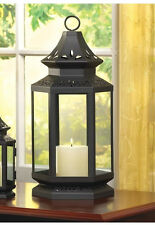 """large black 16"""" colonial country western Candle holder Lantern outdoor terrace"""