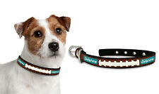 Miami Dolphins Large Leather Lace Dog Collar [NEW] Pet Cat Lead CDG NFL