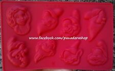 Snow White and Seven Dwarfs  Silicone Chocolate Candy Clay Fondant Mold Molder