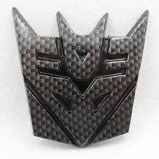 NEW JDM Carbon Fiber Transformers Decepticon Car Badge Emblem Sticker Trunk SIDE