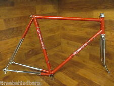 VINTAGE ORIGINAL DE BERNARDI CHROME COLUMBUS STEEL LUGGED ROAD BIKE FRAME 55CM