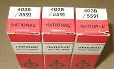 3 NOS National  403B  5591  Tubes (6AK5)