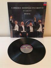 CARRERAS/DOMINGO/PAVAROTTI IN CONCERT MEHTA  Vinyl LP Decca EX/EX