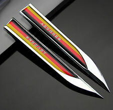 2pcs Auto car Dagger Fender Emblems stickers Badge for Germany Deutschland Flag