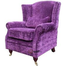 Ashley Fireside High Back Wing Armchair Velluto Amethyst Purple Fabric