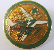 BOEING SAFETY 747 767 screw post back badge pin